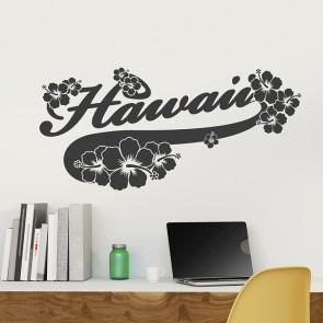 Hawaii Hibiskus Wandtattoo