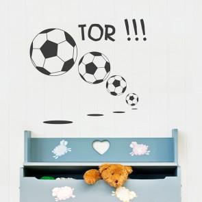 Fußball Tor Wandtattoo
