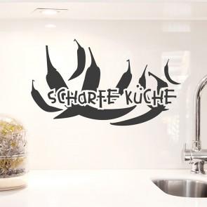 Wandtattoo Scharfe Küche mit Chillischoten