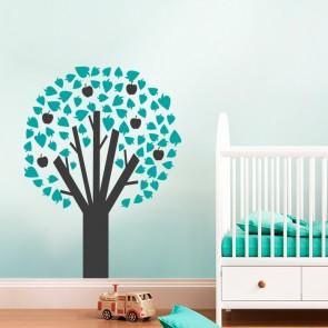 Bunter Apfelbaum fürs Kinderzimmer
