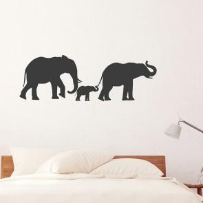 Wandtattoo Elefantenfamilie