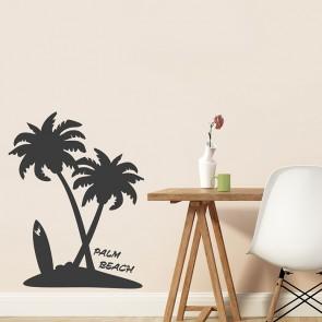 Wandtattoo Palme Insel