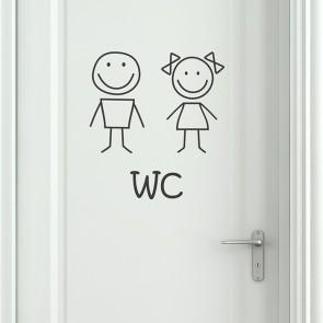Wandtattoo WC Smiley