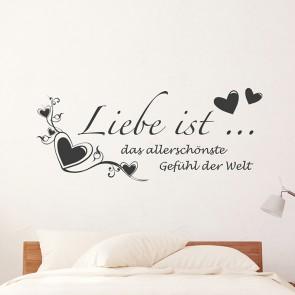 Liebe ist … Wandtattoo