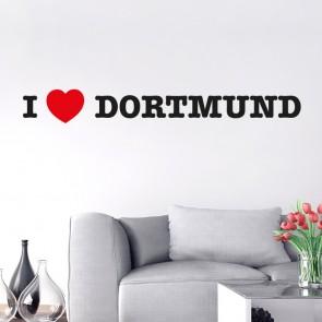 I LOVE DORTMUND Wandtattoo