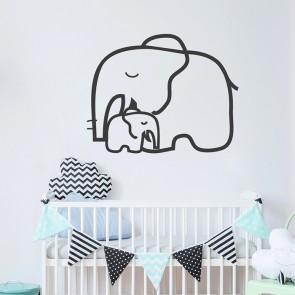 Elefantenliebe Wandtattoo