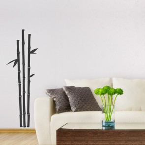 Drei Bambus Pflanzen Wandtattoo