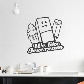 We like Icecream Wandtattoo