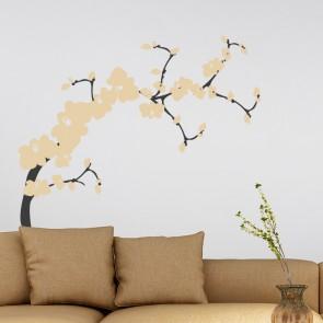 Japanischer Blütentraum Wandtattoo