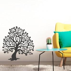 Schnörkelbaum mit Herzblättern