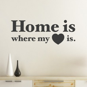 Home is where my heart is Wandtattoo