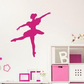 Tanzende Ballerina Wandtattoo