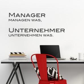 Manager managen was Wandtattoo Spruch