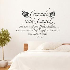 Wandtattoo Spruch - Freunde sind Engel
