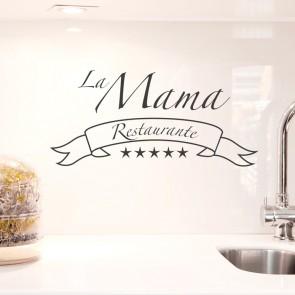 Wandtattoo Spruch - La Mama Restaurante