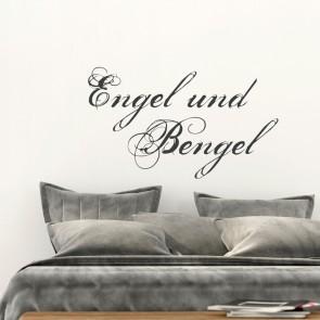 Wandtattoo Spruch - Engel und Bengel