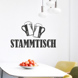 Wandtattoo Spruch - Stammtisch