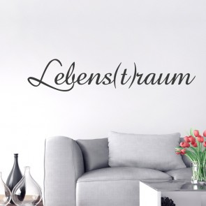 Wandtattoo Spruch - Lebens(t)raum