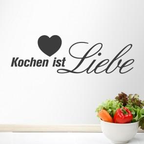 Wandtattoo Spruch - Kochen ist Liebe