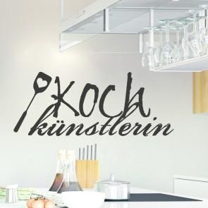 Wandtattoo Spruch - Kochkünstlerin