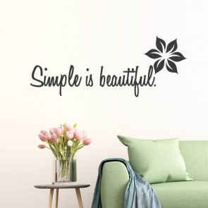 Wandtattoo Spruch - Simple is beautiful
