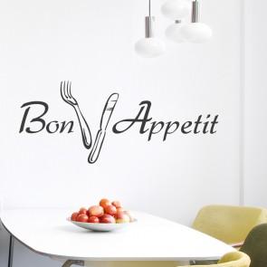 Wandtattoo Spruch - Bon Appetit