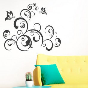 Wandtattoo - Schmetterlingsbaum