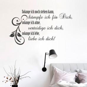 wandtattoo spr che und zitate rund um das thema liebe gl ck. Black Bedroom Furniture Sets. Home Design Ideas