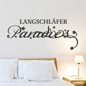 Wandtattoo Spruch - Langschläfer Paradies