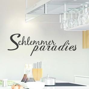 Wandtattoo Spruch - Schlemmerparadies