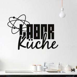 Wandtattoo Spruch - Laborküche