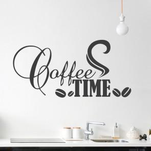 Wandtattoo Spruch - Coffeetime