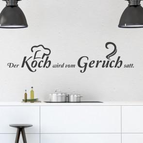 Wandtattoo Spruch - Der Koch wird vom Geruch satt