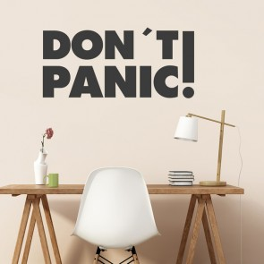 Wandtattoo Spruch - Don´t panic