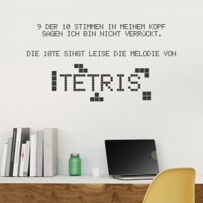 Wandtattoo Spruch - Tetris