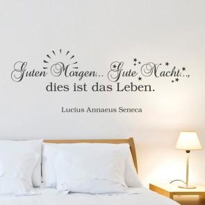 Wandtattoo Zitat - Guten Morgen ... Gute Nacht