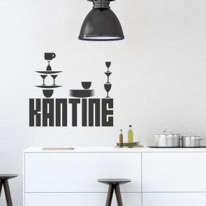 Wandtattoo Spruch - Kantine