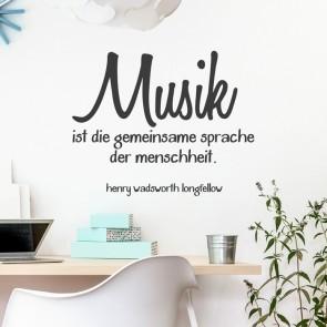 Wandtattoo Zitat - Musik ist die gemeinsame Sprache der Menschheit