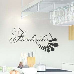 Wandtattoo Spruch - Feinschmecker