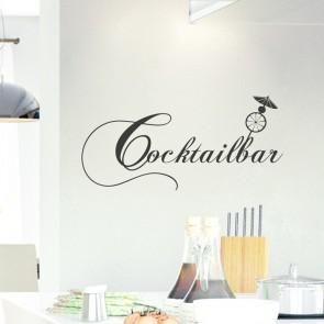 Wandtattoo Spruch - Cocktailbar