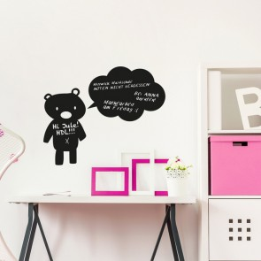 Tafelfolie - Teddybär mit Sprechblase