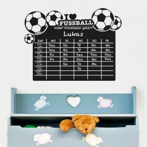 Tafelfolie - Stundenplan Fußball