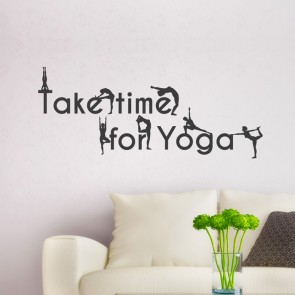 Wandtattoo Spruch - Take time for Yoga
