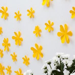 Wandtattoo 3D - Blumen gelb