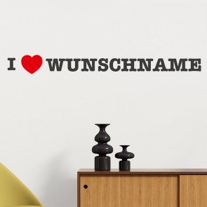 Wandtattoo I LOVE WUNSCHNAME