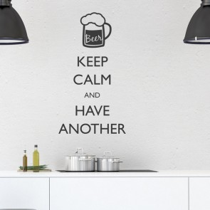 Wandtattoo Spruch - Keep calm and have another Beer