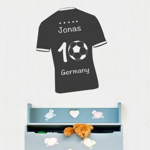 Wandtattoo Fußball - Deutschlandtrikot mit Wunschname