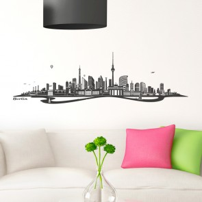 Wandtattoo Skyline Berlin mit Fluss