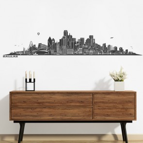 Wandtattoo Skyline Dallas