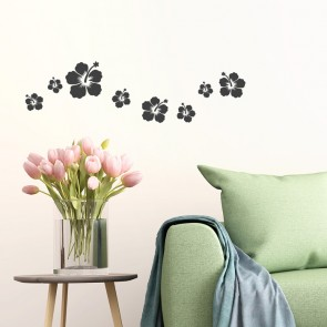 Wandtattoo A4-Set Hibiskusblüten